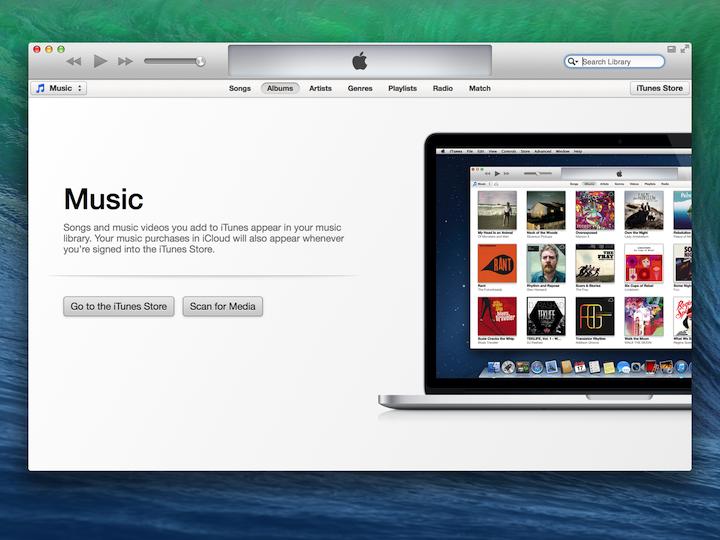 iTunes向用户展示了他们音乐库应有的样子。